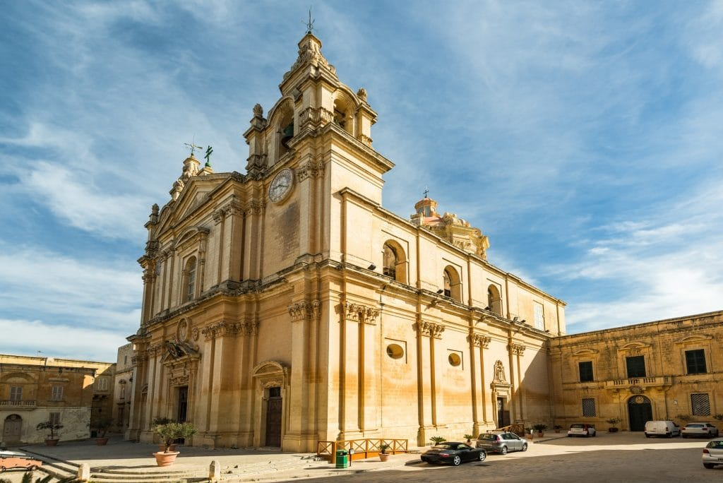 Cathedral in SIlent City of Mdina,Malta